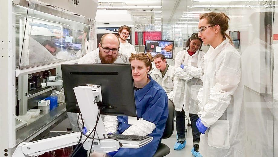 Scientists working with Array robotics